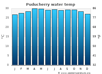 Puducherry average sea sea_temperature chart