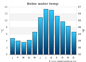 Reine average sea sea_temperature chart