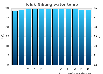 Teluk Nibung average water temp