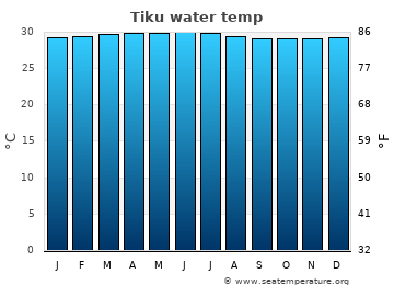 Tiku average sea temperature chart