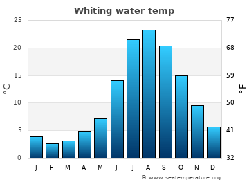 Whiting average sea sea_temperature chart