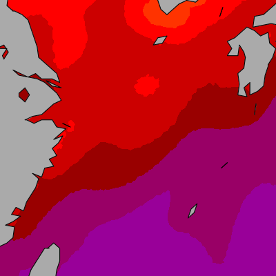 East China Sea temperature map
