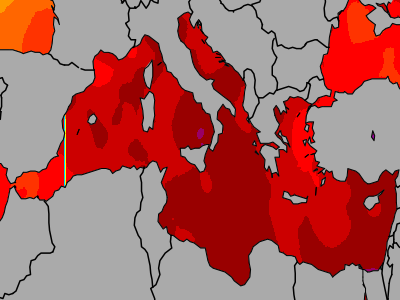 Mediterranean Sea Temperatures